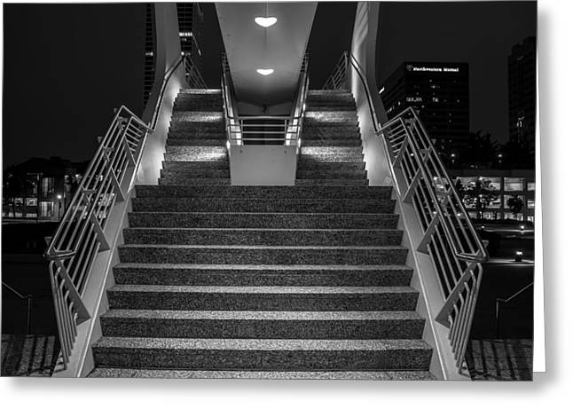Contemporary Night Scape Greeting Cards - Art Stairs Greeting Card by Chuck De La Rosa