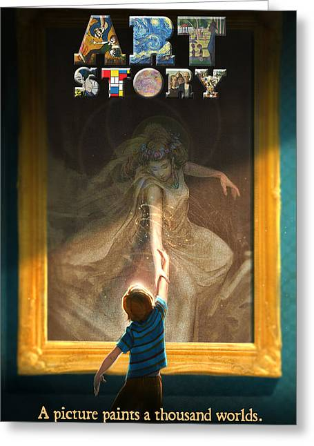 Aaron Blaise Greeting Cards - Art Story Poster Greeting Card by Aaron Blaise