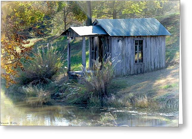 Shed Digital Art Greeting Cards - Art Studio Greeting Card by Bonnie Willis