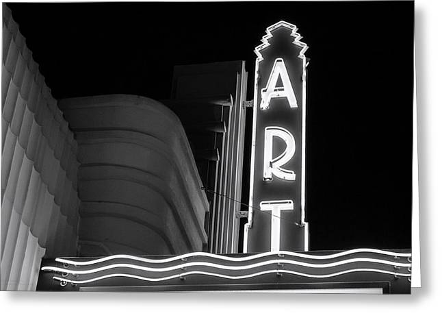 Recently Sold -  - California Beach Art Greeting Cards - Art Theatre Long Beach Denise Dube Greeting Card by Denise Dube