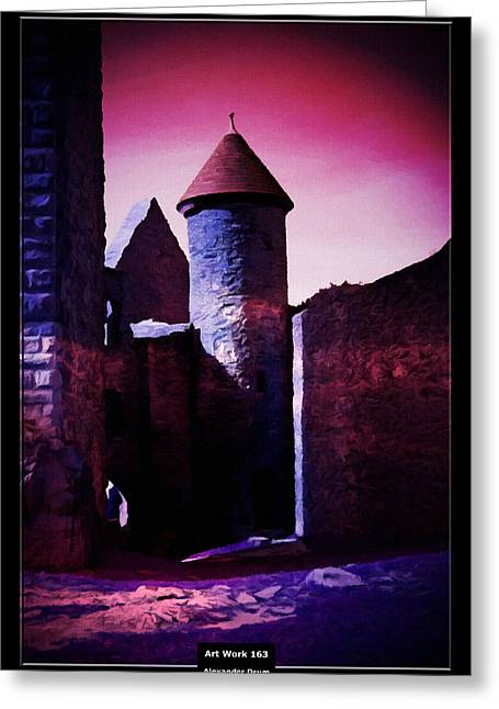 Count Dracula Greeting Cards - Art Work 163 Castle Lichtenberg Greeting Card by Alexander Drum