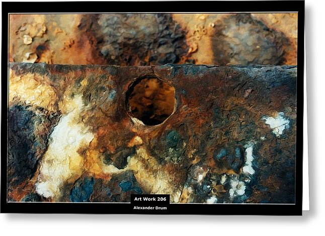 Art Work 206 ship rust Greeting Card by Alexander Drum