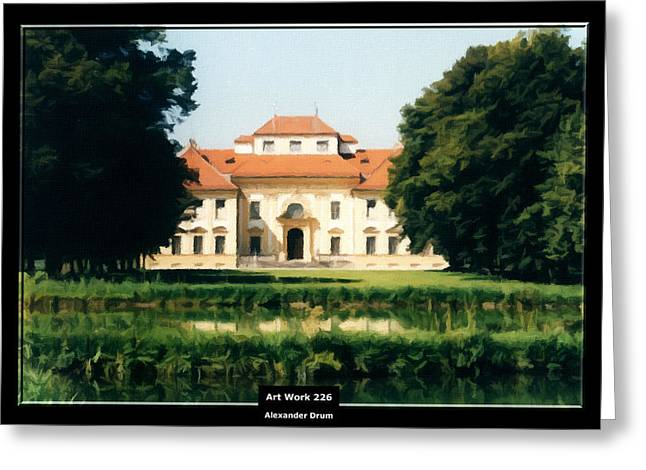 Mystic Art Greeting Cards - Art Work 226 Bavaria Castle Greeting Card by Alexander Drum