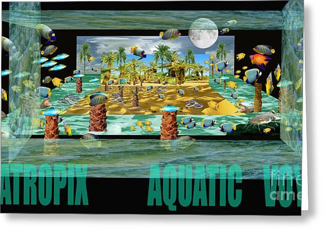 Photo Manipulation Paintings Greeting Cards - ArtaTropix- Aquatic Voyage-poster Greeting Card by Dariush Alipanah- Jahroudi