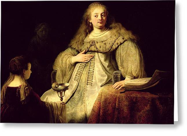 Pregnant Greeting Cards - Artemisia, 1634 Oil On Canvas Greeting Card by Rembrandt Harmensz. van Rijn