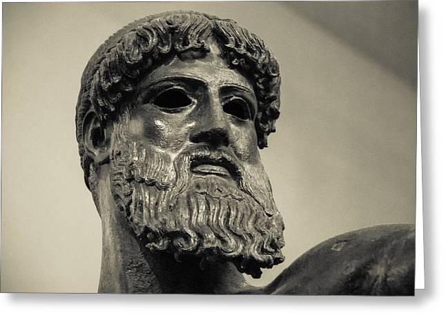Museum Athens Greeting Cards - Artemision Zeus Greeting Card by David Waldo