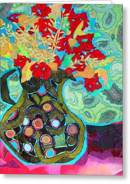 Recently Sold -  - Diane Fine Greeting Cards - Artful Jug Greeting Card by Diane Fine