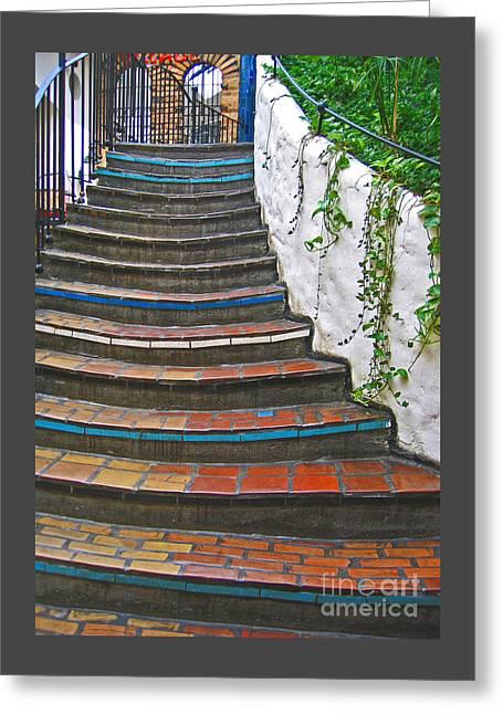 Artful Stair Steps Greeting Card by Ann Horn