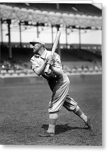 Baseball Art Photographs Greeting Cards - Arthur Art Fletcher Greeting Card by Retro Images Archive