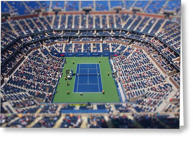 Arthur Ashe Greeting Cards - Arthur Ashe Stadium Special Effect Greeting Card by Mason Resnick