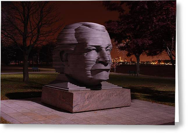 Overture Greeting Cards - Arthur Fiedler Greeting Card by Charles Harden