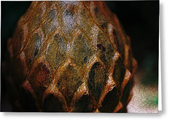Moody Pyrography Greeting Cards - Artichoke Fountain Greeting Card by Malgorzata Fairman