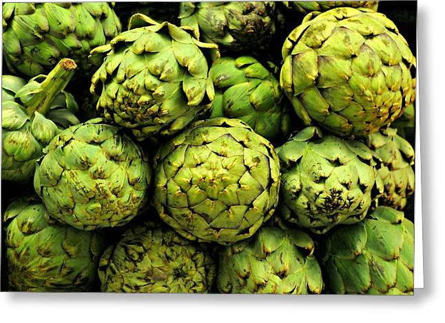 Low-calorie Greeting Cards - Artichokes Greeting Card by Diana Angstadt