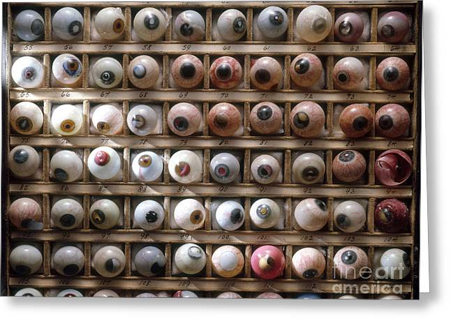 Science Collection - Greeting Cards - Artificial Eyes  Disorders Greeting Card by Brooks Brown