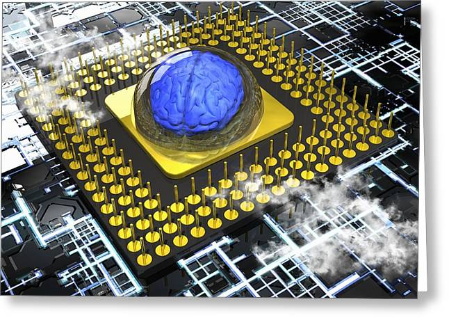 Artificial intelligence, conceptual Greeting Card by Science Photo Library