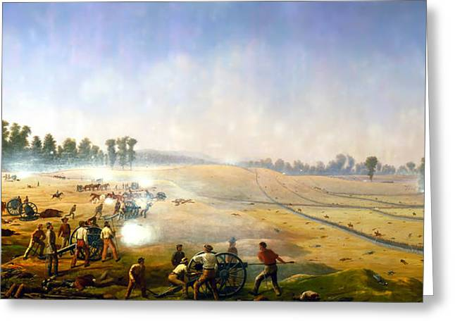 Artillery Hell At Antietam Greeting Card by Mountain Dreams