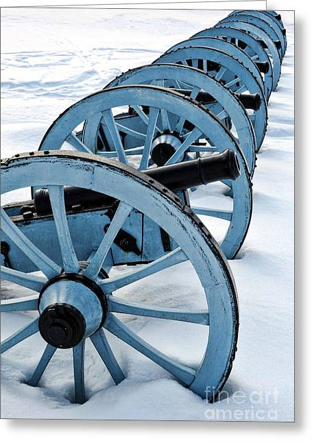 Position Greeting Cards - Artillery Greeting Card by Olivier Le Queinec