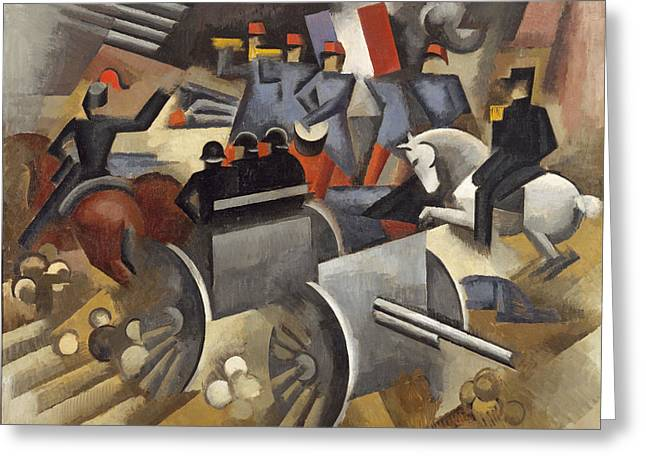 Rogers Greeting Cards - Artillery Greeting Card by Roger de La Fresnaye
