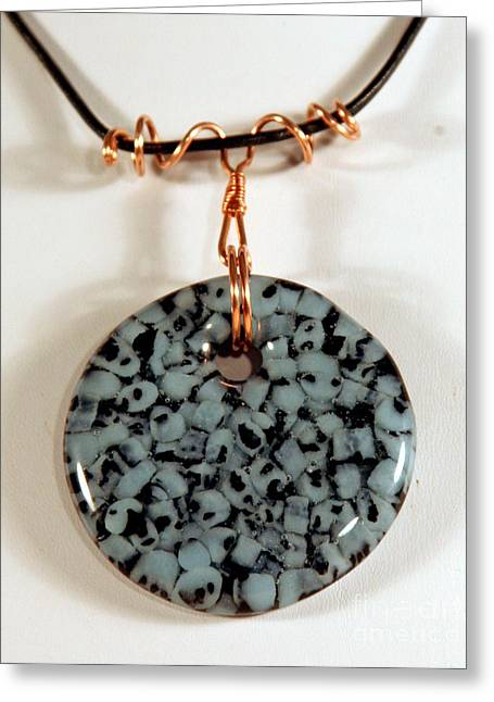 Handcrafted Jewelry Greeting Cards - Artisan Murrini Glass Pendant GM05281205 Greeting Card by P Russell