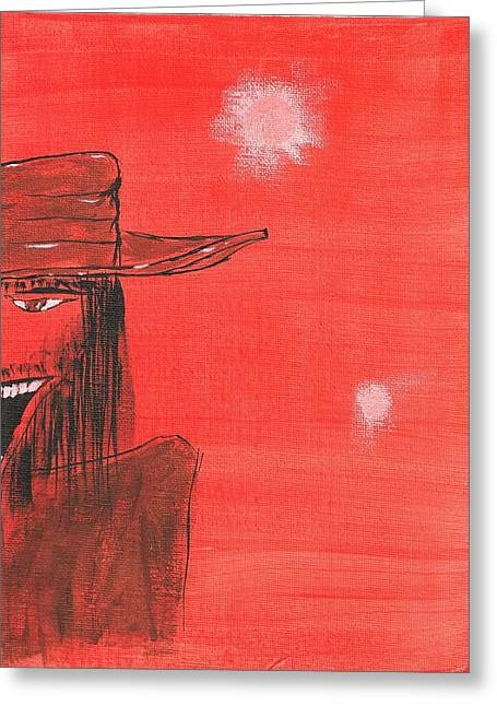 Keith Nichols Greeting Cards - Artist As A Young Man Greeting Card by Keith Nichols