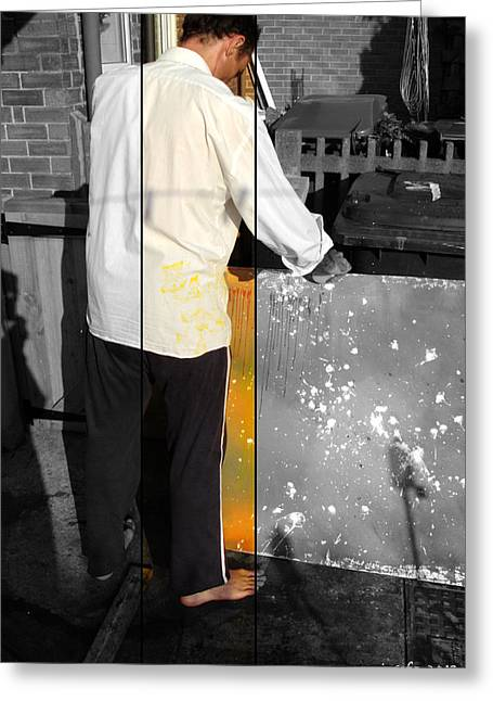 Painter At Work Greeting Cards - Artist At Work Part Two Greeting Card by Sir Josef Putsche