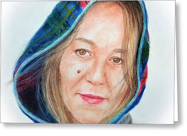 Artist Jadranka Bezanovic Sovilj  Greeting Card by Jim Fitzpatrick