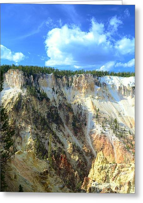 Colorful Cloud Formations Greeting Cards - Artist Palette Of Yellowstone 2 Greeting Card by Kathleen Struckle