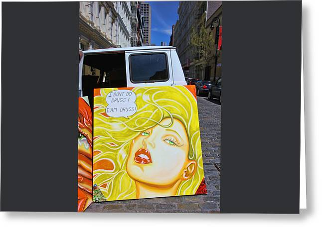 Artist with Attitude Greeting Card by Allen Beatty