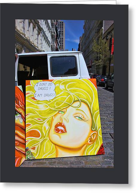 Splashy Greeting Cards - Artist with Attitude Greeting Card by Allen Beatty