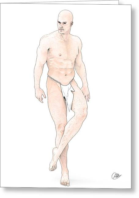 Stud Drawings Greeting Cards - Anatomy By Quim Abella Greeting Card by Joaquin Abella