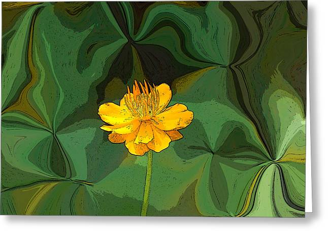 Artistically Altered Greeting Cards - Artistic Buttercup Greeting Card by Aimee L Maher Photography and Art