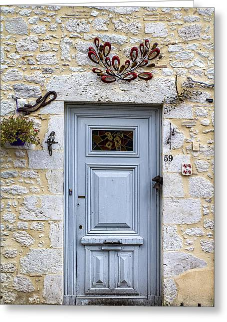Stone House Greeting Cards - Artistic Door Greeting Card by Nomad Art And  Design