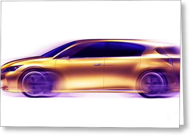 Blured Greeting Cards - Artistic dynamic image of moving blurred car Greeting Card by Oleksiy Maksymenko