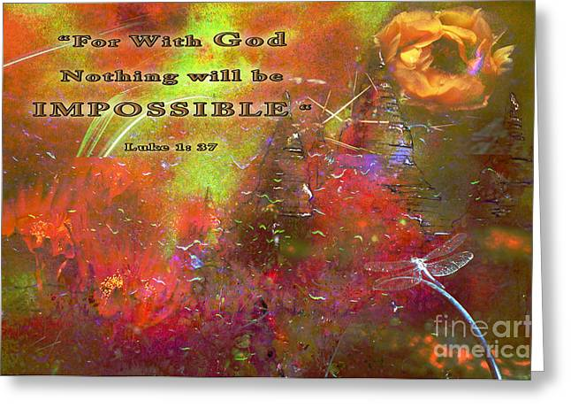 Floral Digital Art Digital Art Greeting Cards - Artistic Eyes Greeting Card by Beverly Guilliams