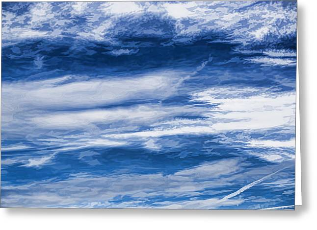 Overcast Day Greeting Cards - Artistic February Clouds Overcast With White Clouds And Blue Sky Greeting Card by Leif Sohlman