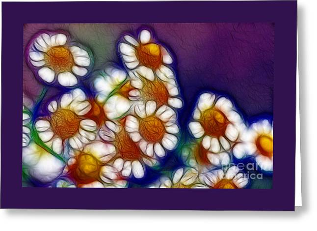 Artistic Feverfew Greeting Card by Kaye Menner