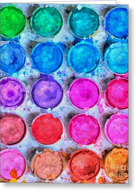 Paintbox Greeting Cards - Artistic Inspiration  Greeting Card by Heidi Smith