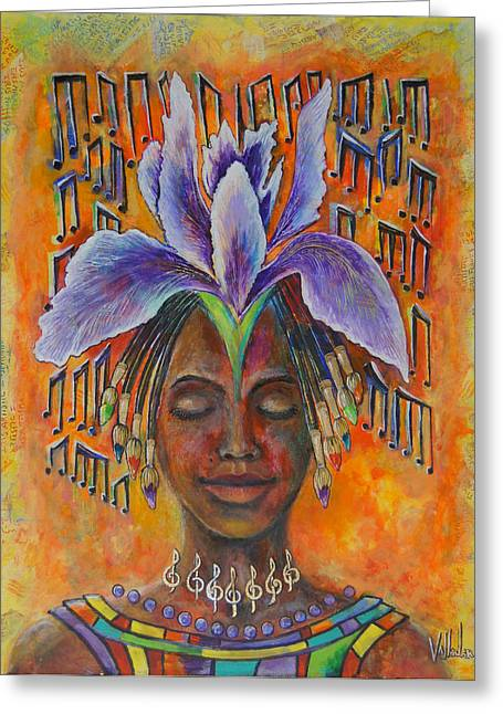Cuban Painter Greeting Cards - Artistic Inspiration Greeting Card by Maria Valladarez