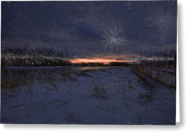 Reflection Of Sun In Clouds Greeting Cards - Artistic Painterly 2 Early Morning January 2015 Greeting Card by Leif Sohlman
