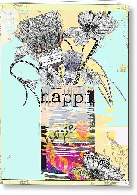 Teen Licensing Greeting Cards - HAPPY happi art print Greeting Card by Anahi DeCanio