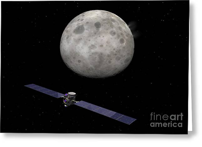 Interstellar Space Digital Art Greeting Cards - Artists Concept Of Dawn Spacecraft Greeting Card by Walter Myers