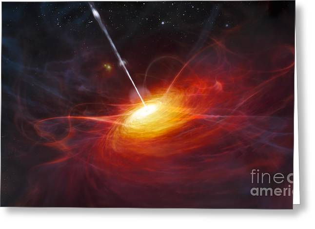 Quasars Greeting Cards - Artists Concept Of Quasars Greeting Card by Stocktrek Images