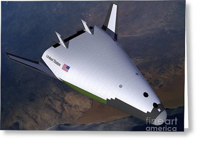 Spaceplane Greeting Cards - Artists Concept Of The X-33 Greeting Card by Stocktrek Images