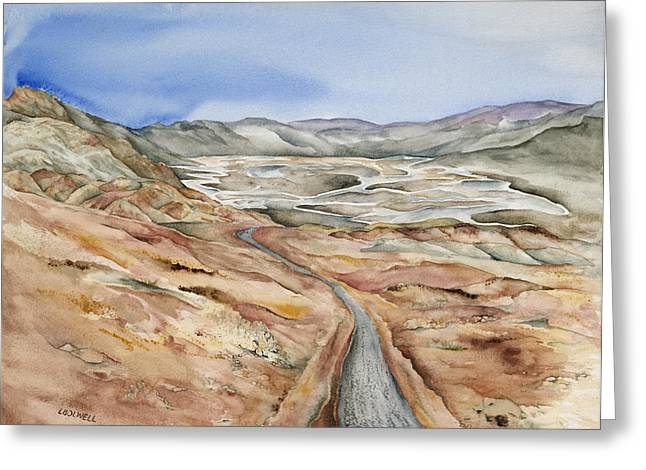 Lynne Bolwell Greeting Cards - Artists Drive Greeting Card by Lynne Bolwell