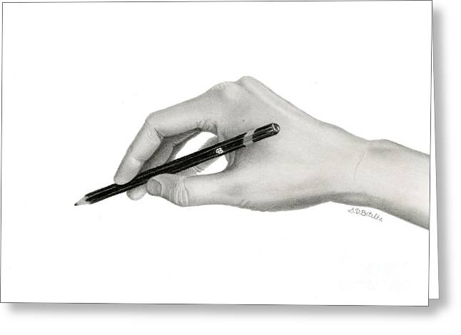 WomenÕs Drawings Greeting Cards - Artists Hand Greeting Card by Sarah Batalka