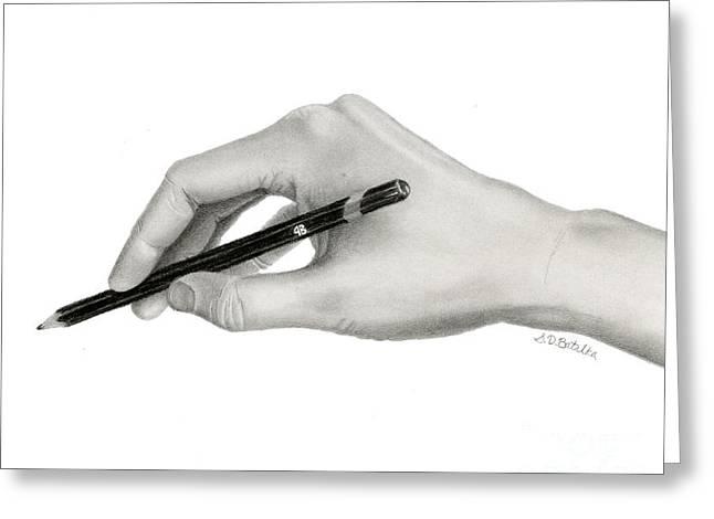 Artist's Hand Greeting Card by Sarah Batalka