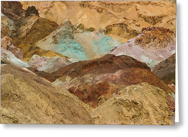 Panamint Valley Greeting Cards - Artists Paint Palette Abstract Greeting Card by Heidi Smith
