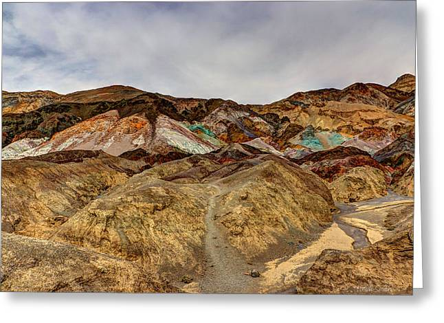 Panamint Valley Greeting Cards - Artists Paint Palette Greeting Card by Heidi Smith