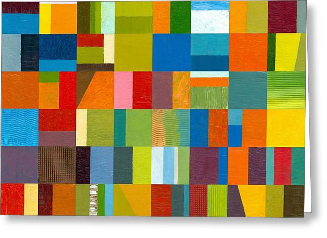 Abstract Style Greeting Cards - Artprize 2012 Greeting Card by Michelle Calkins