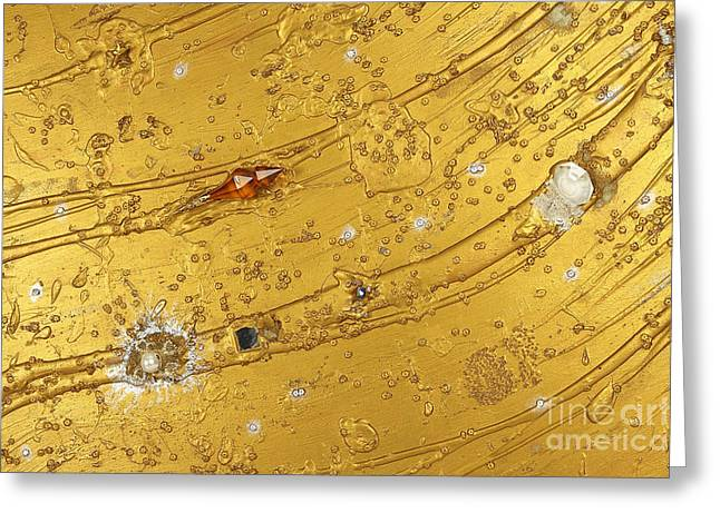 Color Reliefs Greeting Cards - Artscape No. 5 The golden flow of serenity Greeting Card by Heidi Sieber